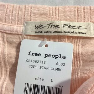 Free People Tops - New Free People Big Sur Long Sleeve Tee, Soft Pink